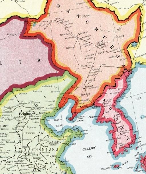 满洲与直隶(热河起初不属于满洲)