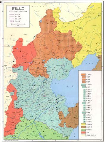 北京官话分布区-80年代版