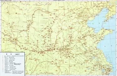 黄河流域原始社会晚期遗址图(新石器时代)