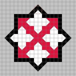 十字徽画法示意
