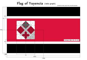 十字血旗比例图