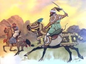 突厥骑兵在辽西
