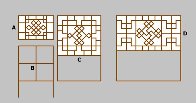 燕地传统民居窗棂中的万字符-涿州张合屯